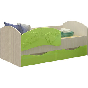 Кровать Регион 58 Дельфин 3 салатовый МДФ 80x160 свитшот print bar мотобратство 80 регион