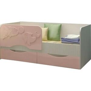 Кровать Регион 58 Дельфин 2 розовый МДФ 80x160 свитшот print bar мотобратство 80 регион