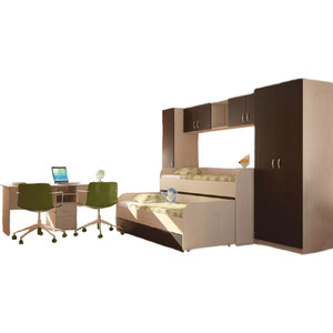 Модульная детская Стиль Мийа-2 дуб/венге детская модульная мебель лотос