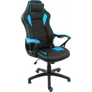 Компьютерное кресло Woodville Leon черное/голубое компьютерное кресло юнитекс лидер черное