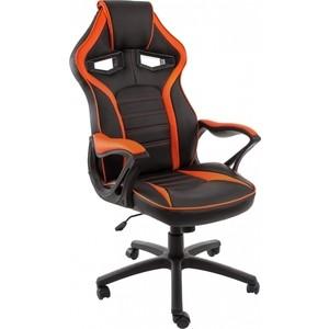 все цены на Компьютерное кресло Woodville Monza черное/оранжевое онлайн