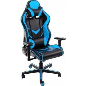 Компьютерное кресло Woodville Racer черное/голубое meterk черное серебро