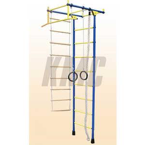 Детский спортивный комплекс Лидер 1 Г/Лидер Г-01 (турник широкий хват) сине-желтый