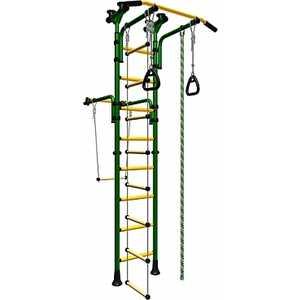 Детский спортивный комплекс Карусель Олимпиец-1 (ДСКМ-2-8.06.Т1.410.01-22) (зеленый/желтый)