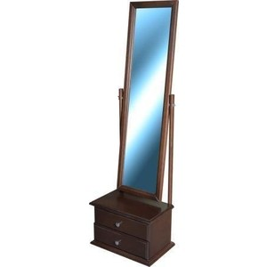 Фото Зеркало Мебелик Селена средне-коричневый с тумбой