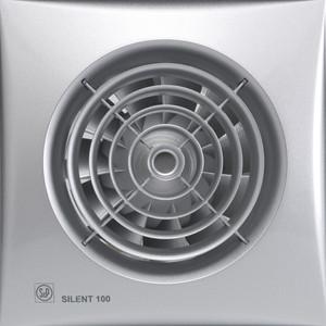 Вентилятор Soler&Palau осевой вытяжной с обратным клапаном D 100 (Silent100CZ Silver) pastora soler benidorm
