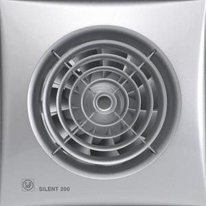 Вентилятор Soler&Palau осевой вытяжной с обратным клапаном и таймером D 120 (Silent200CRZ Silver) pastora soler benidorm