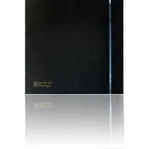 Вентилятор Soler&Palau осевой вытяжной с обратным клапаном и таймером D 100 (Silent100CRZ Black DESIGN-4C) crz