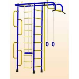 Детский спортивный комплекс Пионер 3М (синий/жёлтый)