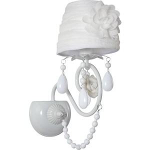 Бра Crystal Lux Elena White AP1 g9 3w 200lm 6500k led cool white dimmable crystal light source white greyish white ac 220v