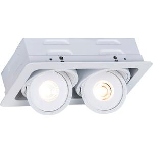 Встраиваемый светодиодный светильник Artelamp A3007PL-2WH встраиваемый светильник arte lamp studio a3007pl 2wh