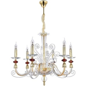 Подвесная люстра Crystal Lux Catarina SP6 Gold/Transparent-Cognac top modern crystal chandelier light living room lights luxury crystal lighting chandeliers crystal cognac modern crystal lamp