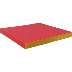 Мат КМС номер 2 (100 х 100 х 10) красно-жёлтый мат кмс номер 4 100 х 150 х 10 складной сине жёлтый