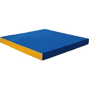 Мат КМС номер 2 (100 х 100 х 10) сине-жёлтый