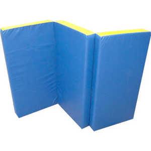 Мат КМС номер 4 (100 х 150 х 10) складной сине-жёлтый мат кмс номер 4 100 х 150 х 10 складной сине жёлтый