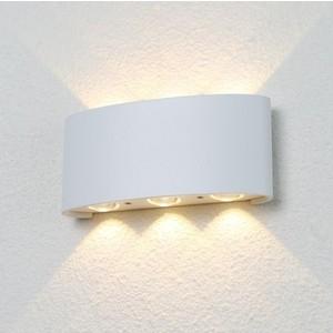 Уличный настенный светодиодный светильник Crystal Lux CLT 023W3 WH настенный светильник crystal lux clt 222w wh