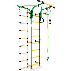 Детский спортивный комплекс Romana S5 (ДСКМ-2С-8.06.Т1.410.01-14) зелёно/жёлтый