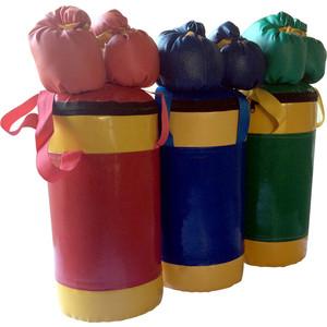 Набор боксерский КМС детский № 2 (мешок боксерский 5 кг., перчатки, трос) зелёно/жёлтый
