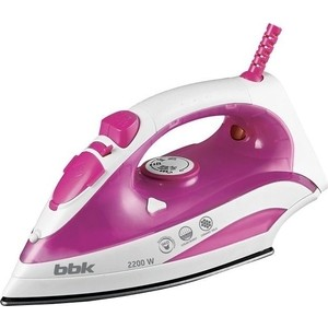 Утюг BBK ISE-2200 розовый bbk bs05 розовый серебро