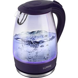 Чайник электрический Lumme LU-216 темный топаз чайник lumme lu 140 темный топаз 2200 вт 2 л стекло