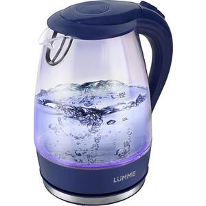 Чайник электрический Lumme LU-216 синий сапфир мультиварка lumme lu 1445 860 вт 5 л черный красный