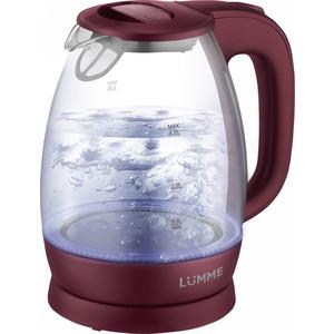 Чайник электрический Lumme LU-136 красный гранат чайник электрический lumme lu 132 темный циркон