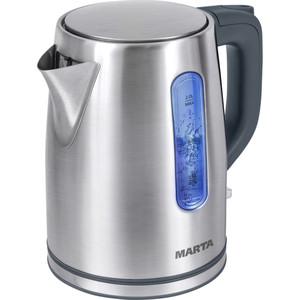 Чайник электрический Marta MT-1093 серый жемчуг marta mt 1055 sapphire blue чайник электрический