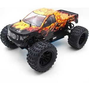Радиоуправляемый монстр HSP Nitro Off Road Monster Truck 4WD RTR масштаб 1:10 2.4G - 94188 2pcs 1 10 rc buggy front tires skin off road front tyre skin with foam fit for hsp redcat off road 94107