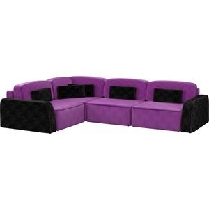 Угловой диван АртМебель Гермес микровельвет фиолетовый бк-фиолетовый левый угол бк 04 магнит божья коровка 35мм 780420