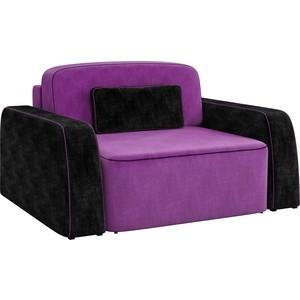 Кресло АртМебель Гермес микровельвет фиолетово-черный gps часы маяк для спецагента q50 фиолетово черный