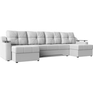 Угловой диван АртМебель Сенатор-П эко-кожа белый угловой п образный диван aria