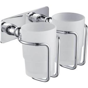 Стакан 2-ой для зубных щеток Timo хром (150032/00 chrome) душевая система timo nelson для ванны хром sx 1290 00 chrome