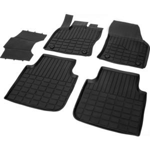 Коврики салона Rival для Skoda Kodiaq (2017-н.в.), резина, 65105001 коврики в багажник для 5 7 местной версии original для skoda kodiaq 2017