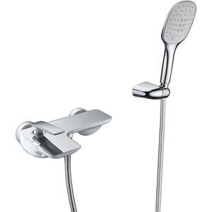 Смеситель для ванны Timo Helmi (4014/00-16Y chrome white) хром - белый душевая система timo helmi для ванны хром sx 1070 00 16 chrome white