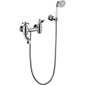 Смеситель для ванны Timo Lina с поворотным изливом (7034/00Y chrome) хром смеситель для ванны vidima уно с прямоугольным поворотным изливом с душевым гарнитуром ba320aa