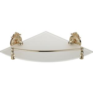 Полка стекло угловая с ограничителем Hayta Gabriel Classic Gold (13910-1/GOLD) золото hayta планка на пять крючков classic gold 13902 5 gold zb9vrhy