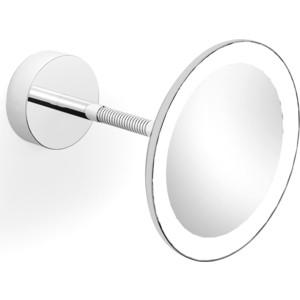 Зеркало косметическое к стене с подсветкой Langberger (71285) хром зеркало косметическое belberg bz 02 с подсветкой