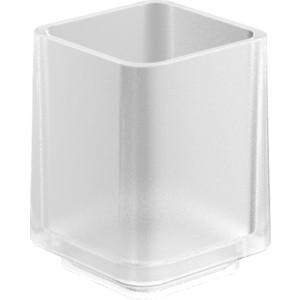 Стакан стеклянный матовый Langberger (32011A-00-01) хром