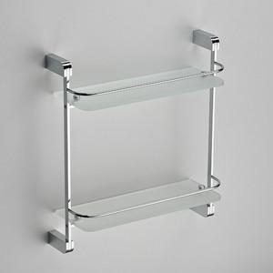 Полка прямая стекло с ограничтелем Schein (2212) хром утюг mystery mei 2212