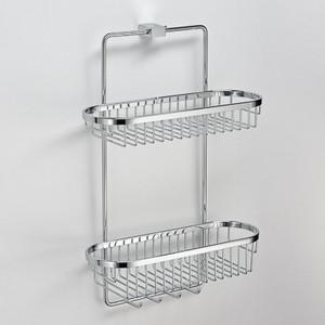 Полка двойная 35 см (хром) Schein Swing (32005) хром мыльница керамическая к стене schein superior 7066004 хром