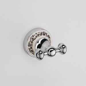Крючок двойной Schein Saine Chrome (7053002) хром полотенцедержатель двойной schein saine chrome 7053040 хром