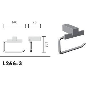 Бумагодержатель без крышки Schein (266-3) хром бумагодержатель без крышки квадрат schein van gogh 056 хром
