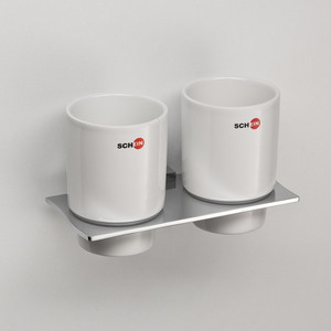 Стакан (керамика) двойной Schein Swing (324C) хром