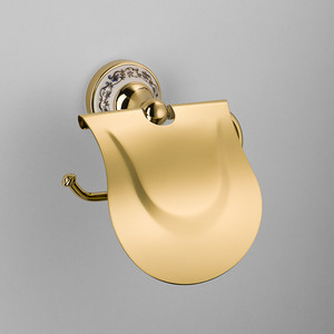Фото - Бумагодержатель с крышкой Schein Saine Gold (7053026VF) золото блок питания accord atx 1000w gold acc 1000w 80g 80 gold 24 8 4 4pin apfc 140mm fan 7xsata rtl