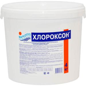 Маркопул Кэмиклс М46 ХЛОРОКСОН гранулы для дезинфекции 4кг жидкость для борьбы с водорослями маркопул кэмиклс альгитинн 3л м06