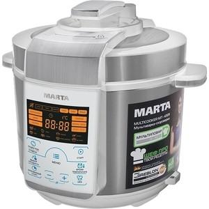 Мультиварка Marta MT-4309 белый/сталь мультиварка marta mt 1981 белый серебро