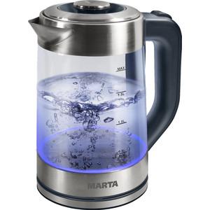 Чайник электрический Marta MT-1086 серый жемчуг чайник marta mt 3043 шоколад