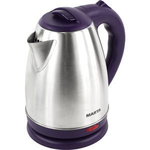 Чайник электрический Marta MT-1083 темный топаз чайник электрический marta mt 1083 красный гранат