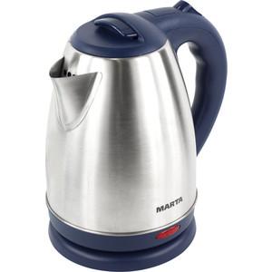 Чайник электрический Marta MT-1083 синий сапфир чайник электрический marta mt 1083 красный гранат