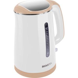Чайник электрический Marta MT-1065 белый/бежевый marta mt 1980 красный